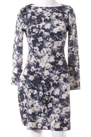 Zara Woman Langarmkleid mehrfarbig Casual-Look