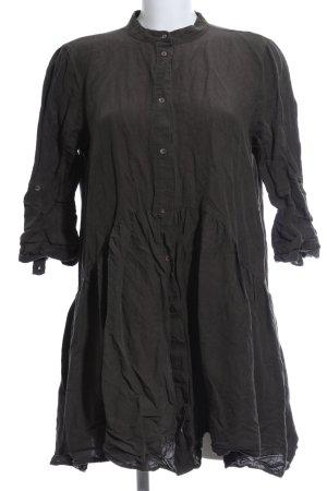 Zara Woman Langarmkleid grüngrau Casual-Look