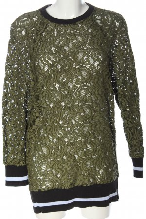 Zara Woman Langarmkleid khaki-schwarz Casual-Look
