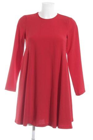 Zara Woman Langarmkleid rot Casual-Look