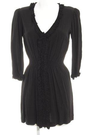 Zara Woman Langarmkleid schwarz Casual-Look