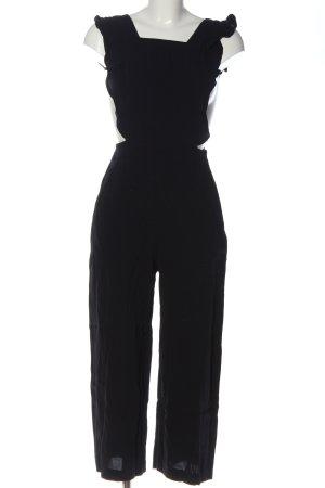 Zara Woman Ogrodniczki czarny W stylu biznesowym