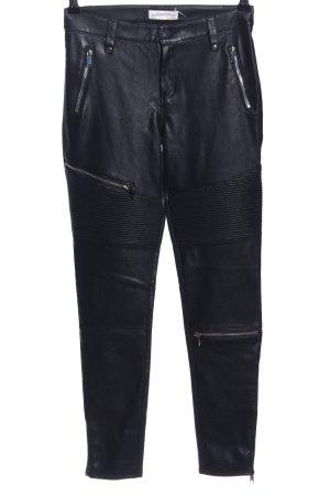 Zara Woman Karottenhose schwarz Streifenmuster Casual-Look
