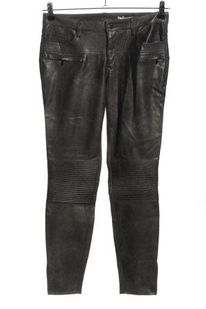 Zara Woman Lederhose schwarz Casual-Look