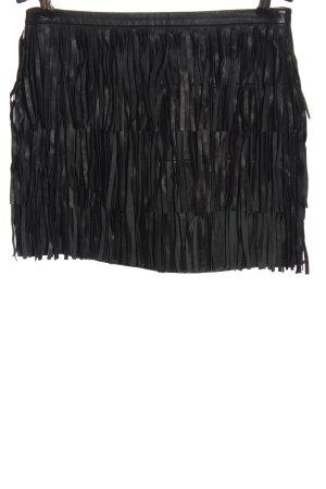 Zara Woman Skórzana spódnica czarny W stylu casual