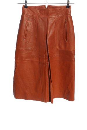 Zara Woman Gonna in pelle marrone stile casual