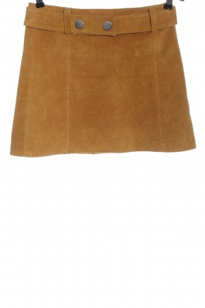 Zara Woman Lederrock hellorange Casual-Look