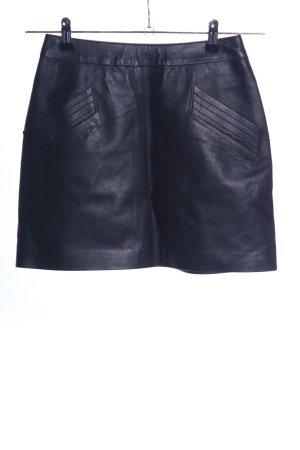 Zara Woman Leather Skirt black casual look