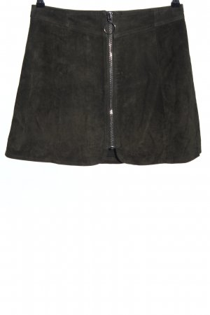 Zara Woman Lederrock schwarz Casual-Look