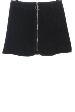 Zara Woman Leren rok zwart casual uitstraling