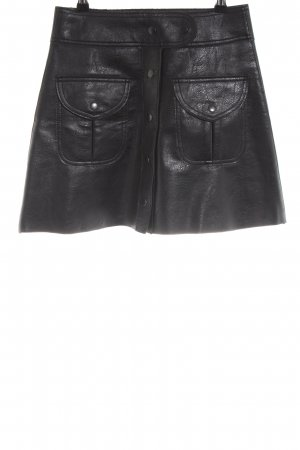 Zara Woman Leren rok zwart extravagante stijl