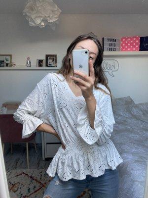 Zara Oversized blouse wit-wolwit