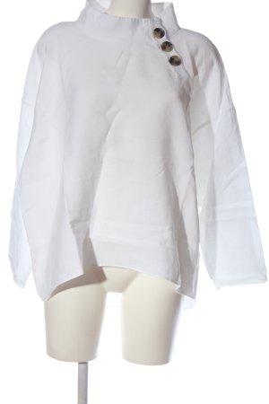 Zara Woman Blouse en lin blanc style d'affaires