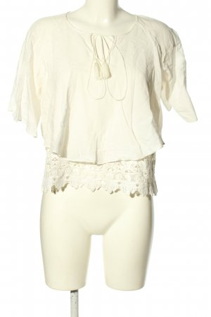 Zara Woman Blusa de lino blanco look casual