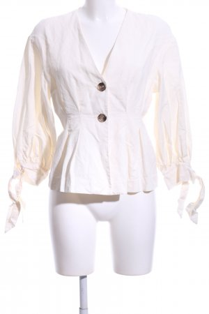 Zara Woman Leinenbluse creme Casual-Look