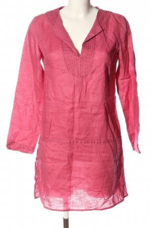 Zara Woman Leinenbluse pink Casual-Look
