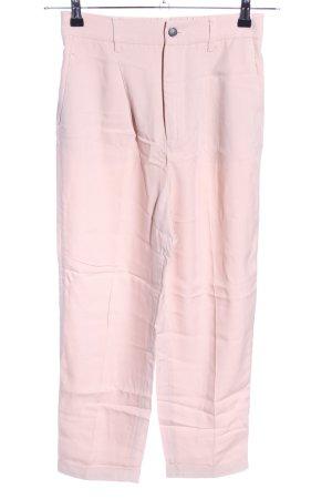 Zara Woman Pantalone di lino rosa stile professionale