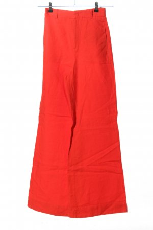 Zara Woman Leinenhose rot Casual-Look