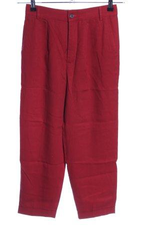 Zara Woman Pantalone di lino rosso stile casual