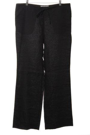 Zara Woman Leinenhose schwarz Casual-Look