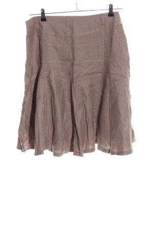 Zara Woman Falda de lino marrón look casual