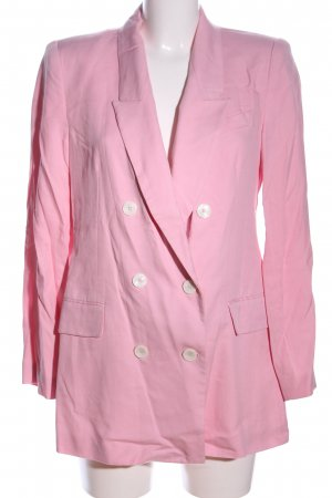 Zara Woman Long-Blazer pink Business-Look