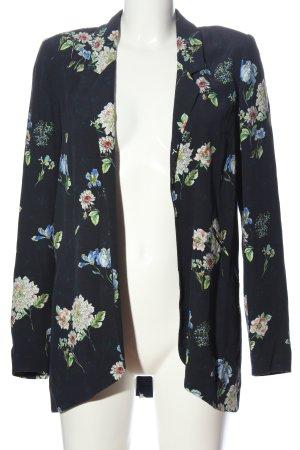 Zara Woman Long-Blazer Blumenmuster Casual-Look