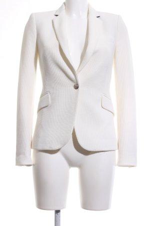 Zara Woman Long-Blazer creme Webmuster Business-Look