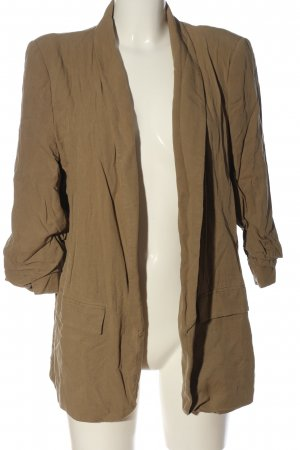 Zara Woman Long-Blazer bronzefarben Business-Look