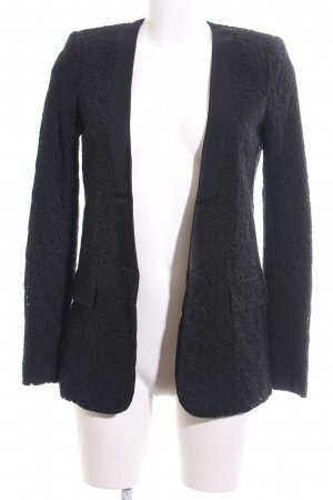Zara Woman Long-Blazer schwarz grafisches Muster Business-Look