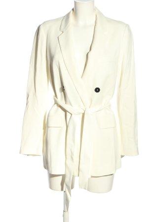 Zara Woman Long-Blazer wollweiß Casual-Look