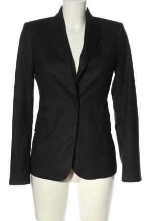 Zara Woman Long-Blazer schwarz Webmuster Business-Look