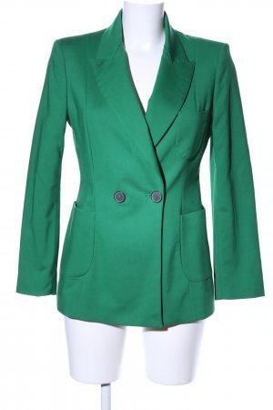 Zara Woman Long-Blazer grün Business-Look