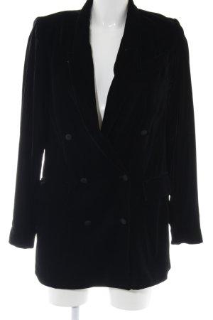 Zara Woman Lange blazer zwart zakelijke stijl