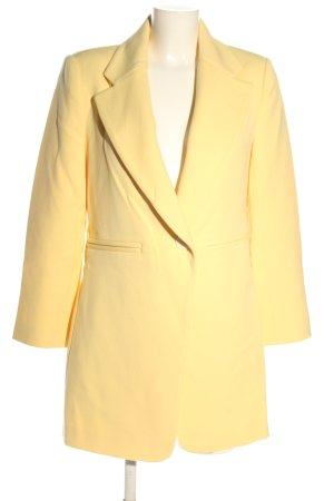 Zara Woman Long-Blazer blassgelb Business-Look