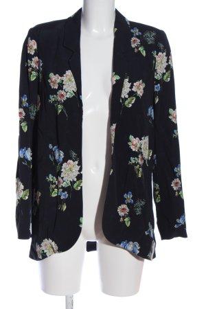 Zara Woman Long-Blazer Allover-Druck Casual-Look