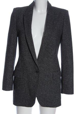 Zara Woman Long-Blazer hellgrau meliert Casual-Look