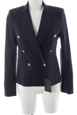Zara Woman Long-Blazer dunkelblau Marine-Look