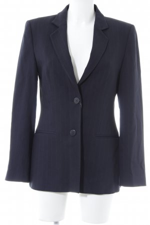 Zara Woman Long-Blazer dunkelblau Nadelstreifen Business-Look