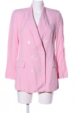 Zara Woman Long-Blazer pink Casual-Look