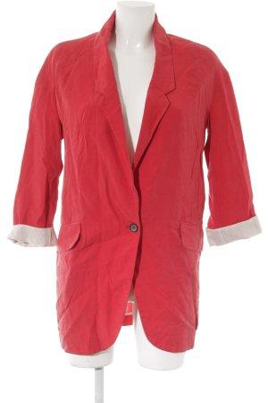 Zara Woman Long-Blazer rot-creme Elegant