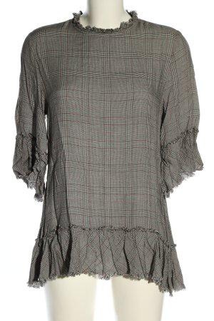Zara Woman Long-Bluse Karomuster Casual-Look
