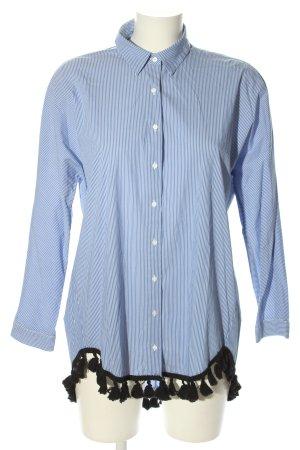 Zara Woman Long-Bluse Streifenmuster Casual-Look