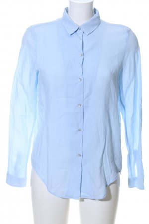 Zara Woman Long-Bluse blau Business-Look