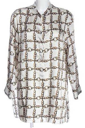 Zara Woman Long-Bluse Allover-Druck Casual-Look