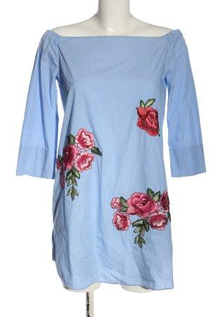 Zara Woman Long-Bluse Blumenmuster Casual-Look
