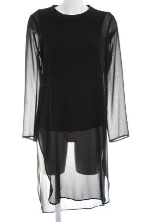 Zara Woman Long-Bluse schwarz Elegant
