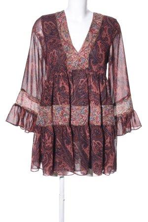 Zara Woman Long-Bluse Mustermix Casual-Look