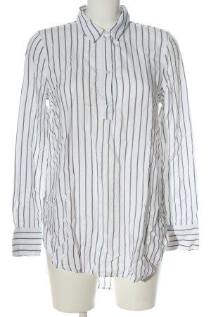 Zara Woman Long-Bluse weiß-schwarz Allover-Druck Casual-Look