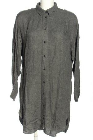 Zara Woman Long-Bluse hellgrau meliert Casual-Look